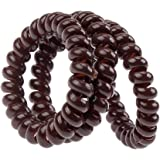 Amazing Best Quality Hair Styling Hairdos Set Kit With 3 Spiral Plastic Traceless Coils / Wires / Hair Bobbles Bands In Brown Colours By VAGA®