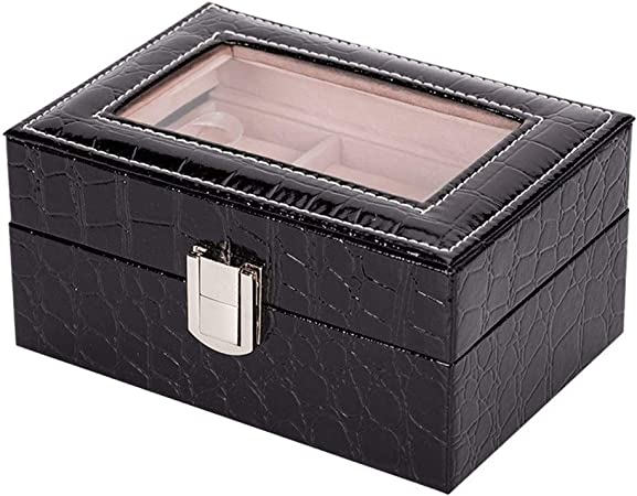 Gu3Je Joyero Joyero, Alta Capacidad de joyería Organizador Caja for Pulseras, Pendientes, Anillos, Collares para Guardar Joyas (Color : Black, Size : 15.5x11x7.5CM): Amazon.es: Hogar
