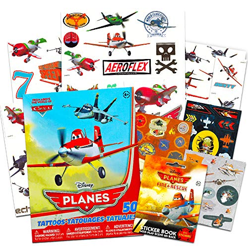 Disney Planes: Fire & Rescue Tattoos and Stickers Party Favor Pack (60 Stickers & 50 Temporary Tattoos) -