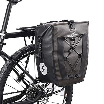 LYCAON Alforjas para Bicicleta 27L Impermeable Nylon TPU ...