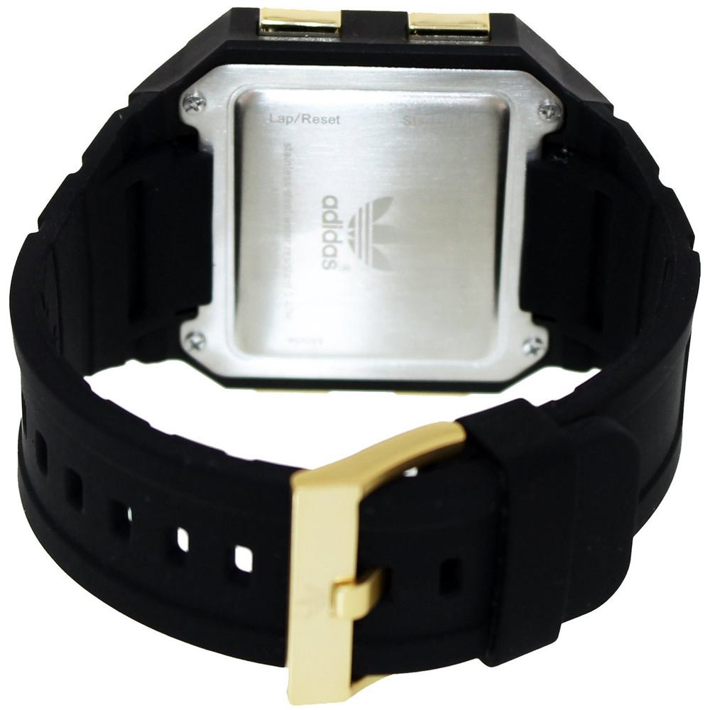 Amazon.com: Adidas Curitiba Black Digital Dial Black Silicone Strap Mens Watch ADH2772: Adidas: Watches