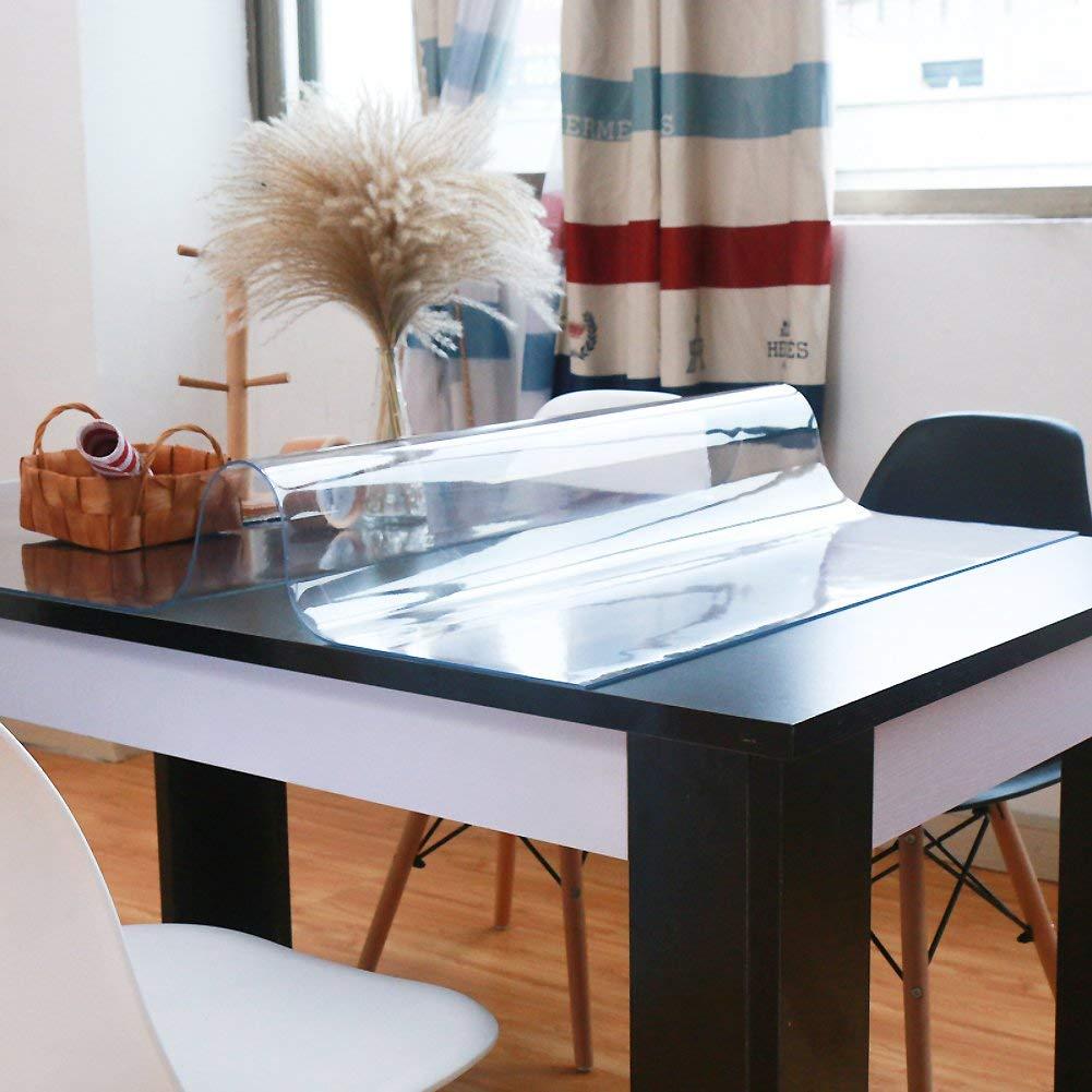 marca 1.0mm 80x140cm 80x140cm 80x140cm WENYAO Tablecloth Thick Waterproof Soft tabcloth Kitchen Transparent Wear-Resistant Tea tabmat Crystal Plastic Easy to Wash,1.0mm_80x140cm  servicio honesto