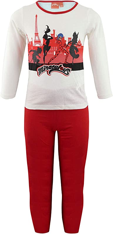 Miraculous LadyBug e Cat Noir - Pijama de algodón conjunto camiseta y pantalón - Full Print - niña