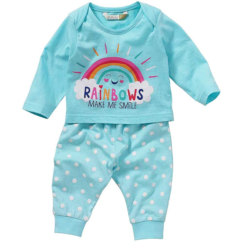 Lullaby Baby Girls Rainbow Smile Long Pyjamas