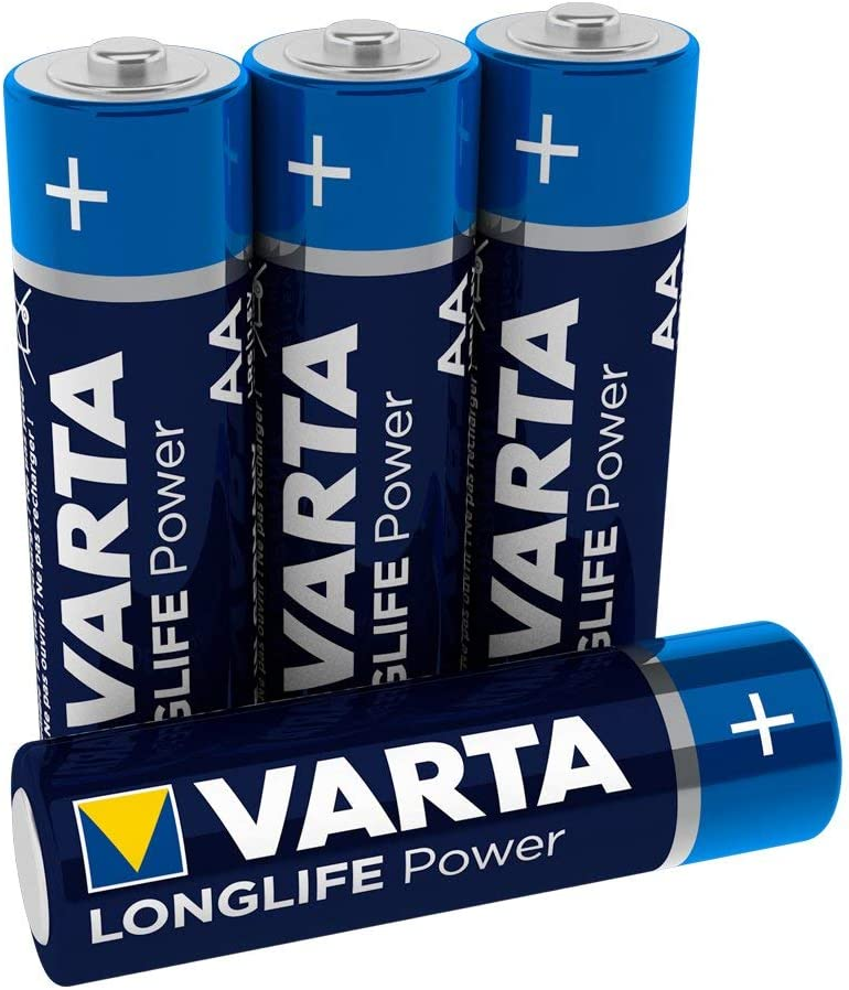 Varta V4906121414 High Energy AA Alkaline Battery 4 Pack