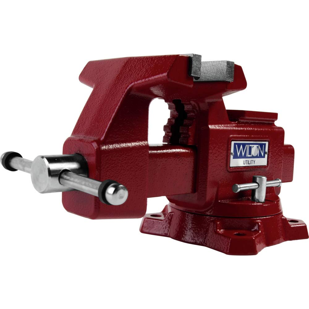 675U, Utility Bench Vise, 5-1/2'' Jaw Width, 5'' Jaw Opening, 3-1/4'' Throat Depth by Unknown