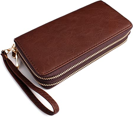 Vegan Leather Clutch Card Case Set