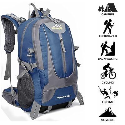40L Hommes Outdoor imperméable respirant Sports Sac à dos Voyage Randonnée Camping Sac à dos Sac de vélo Meilleur cadeau de Noël