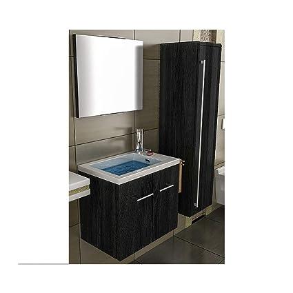 Lavandino con mobiletto/Nero mobile da bagno/lavello/compariremo-WC ...