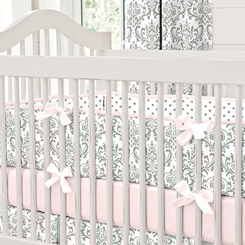 Carousel Designs Pink and Gray Traditions Crib Bumper by Carousel Designs (Image #6)