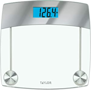 Taylor Precision Products Digital Bathroom Scale, 440 Lb Capacity, Clear