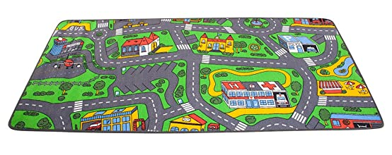 Amazon.com: Extra Large Learning Carpets City Life Play Carpet: Toys U0026 Games