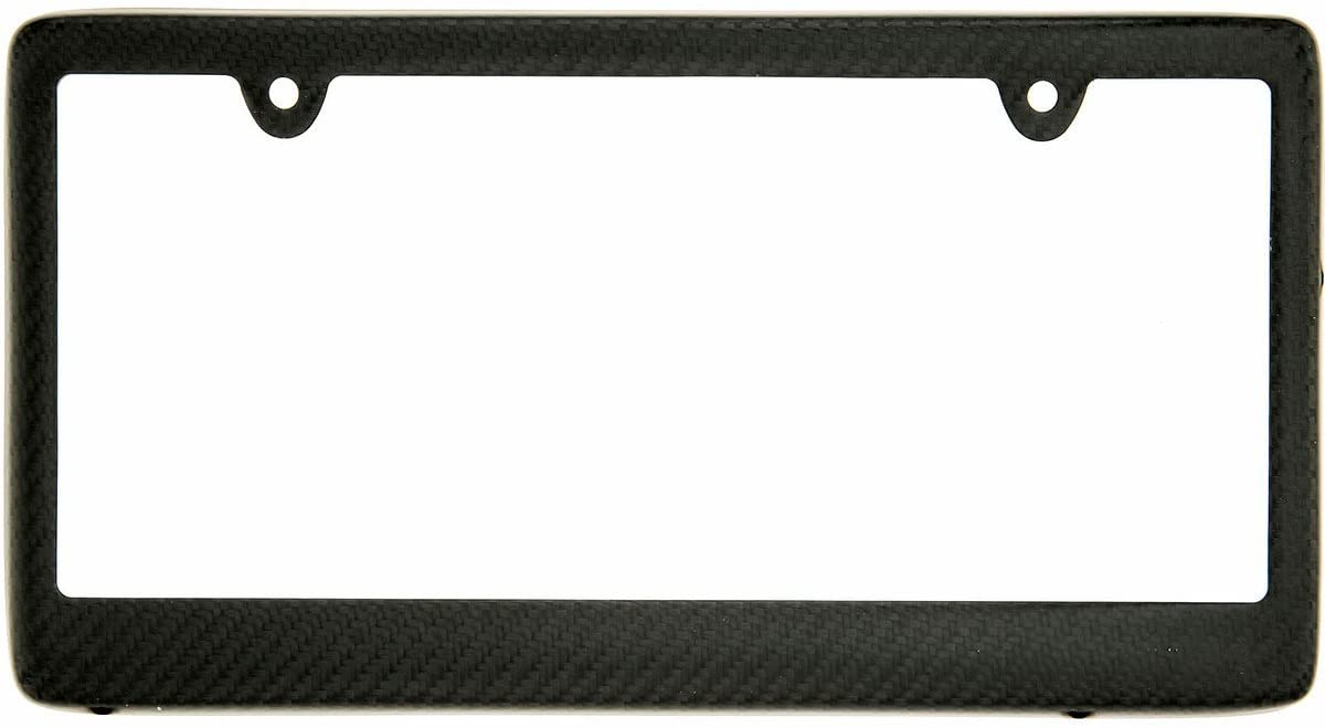 BLVD-LPF OBEY YOUR LUXURY Real 100% Matte Black Carbon Fiber License Plate Frame TAG Cover FF