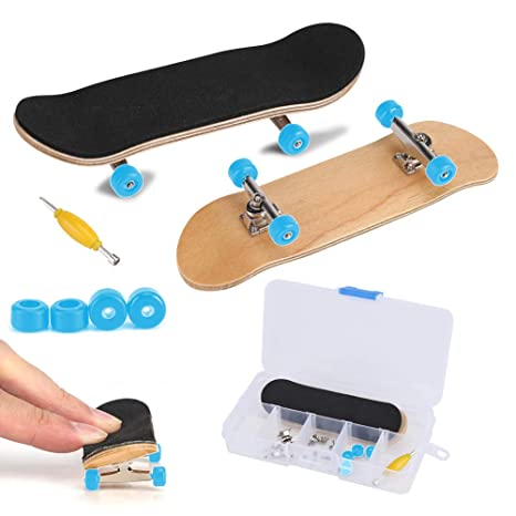 Fingerboard Finger Skateboards, Mini diapasón, Patineta de dedos profesional para Tech Deck Maple Wood DIY Assembly Skate Boarding Toy Juegos de ...