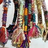 Hair Tassel, Handmade, MULTICOLOR, Qty: 1, Random Colorful Bohemian Hair Wrap, Boho Hair Fall, Hippie Hair Wrap Pendant Dreadlocks Dreads Accessory
