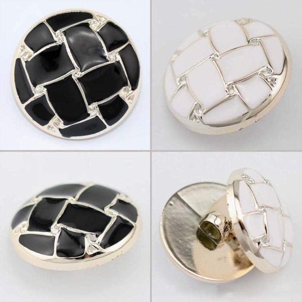 1,18mm 10 pcs 18-30mm manteau bouton blanc noir sauvage mode coupe-vent veste bouton d/écoratif couture DIY v/êtements accessoires