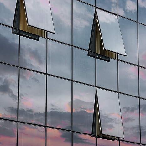 Kinlo Folie Spiegel Schwarz Grau 45x200 Cm Sonnenschutzfolie Selbstklebend Sichtschutzfolie Fensterfolie Tönungsfolie Sichtschutz Wärmeisolierung 99 Uv Schutz Küche Haushalt