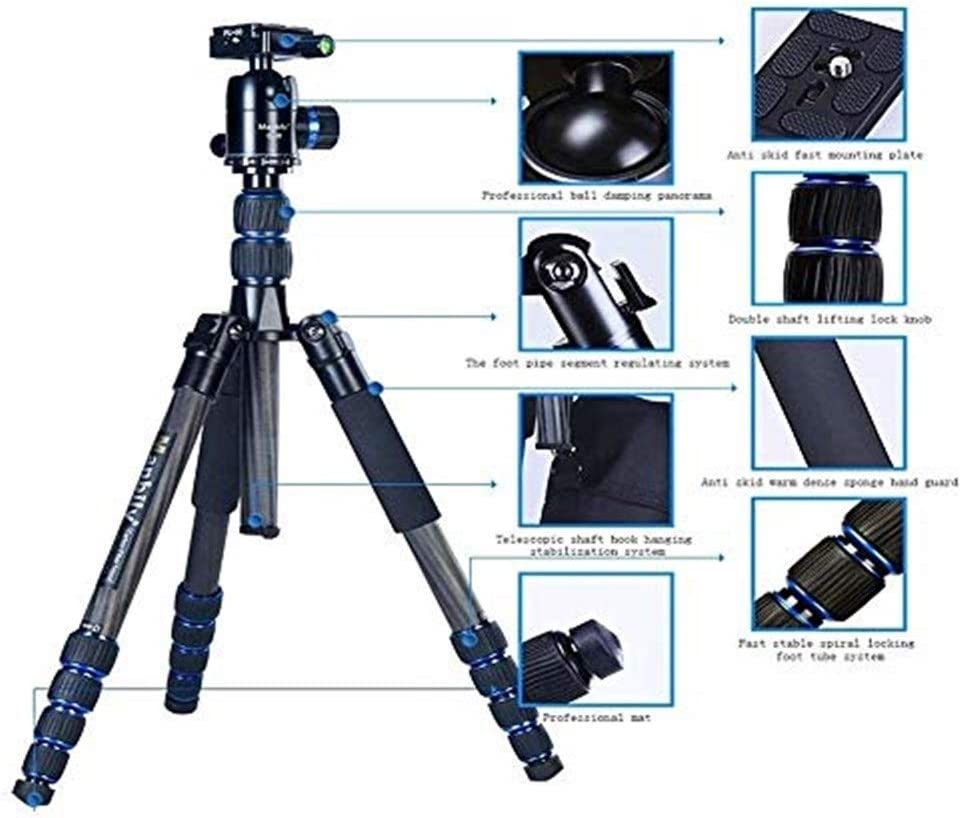 360-degree Panoramic Shooting Multi-Function Tripod Maximum Load 10kg EPCMTTC Camera Tripod Camera Tripod for Digital Camera//Digital SLR Camera//Video Recorder Brackets Travel Tripod