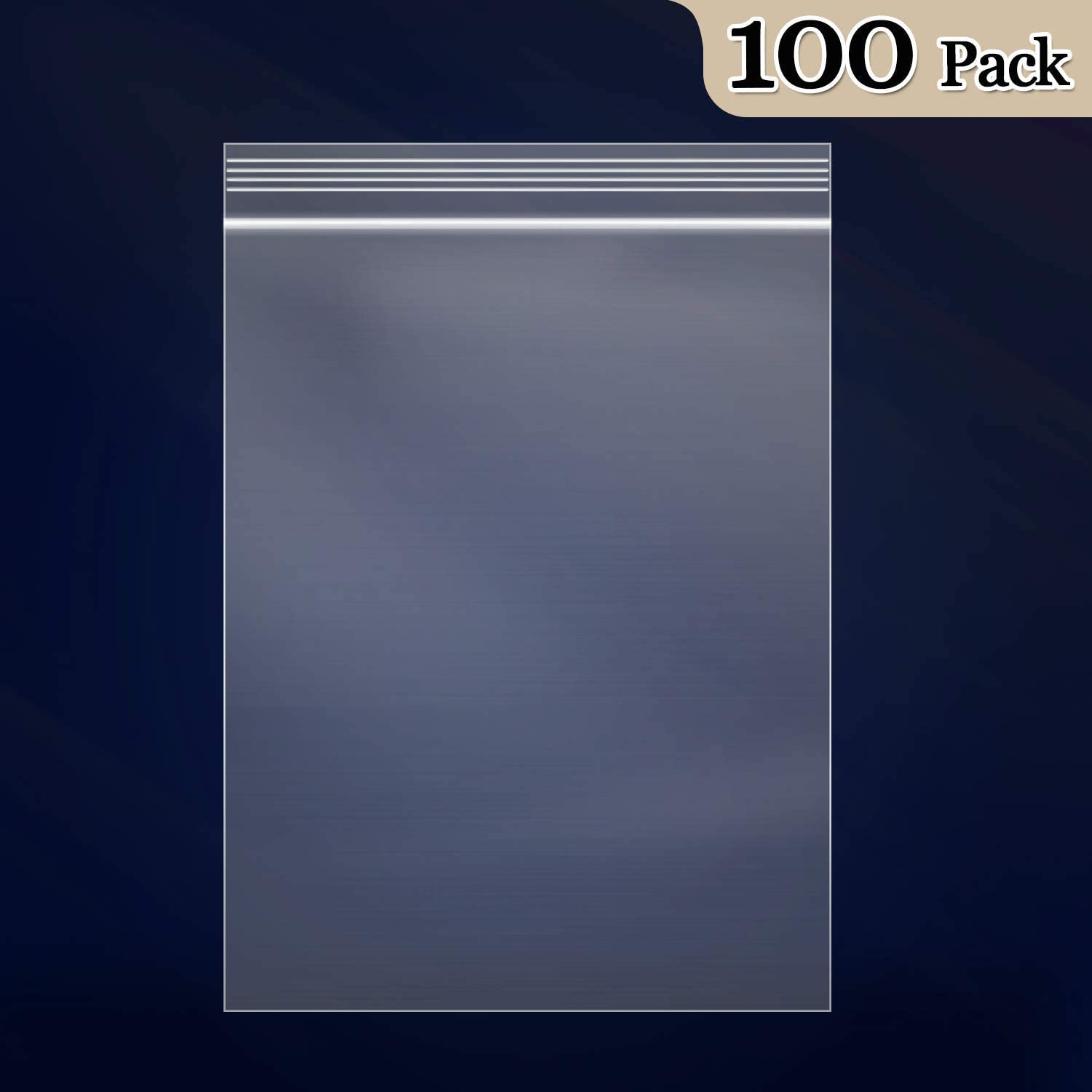 12 x 15 2 Mil Clear Reclosable Poly Bags with Resealable Lock Seal Zipper 1000 Pieces