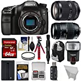 Sony Alpha A68 Digital SLR Camera Body 18-135mm ED & 70-300mm Lenses + 64GB Card + Battery + Backpack + Tripod + Flash Kit