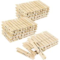 SPY SEE OPEN YOUR EYES Wooden Clothespins - Large Clothes Pegs Laundry, Arts, Crafts, Decoration (Pack of 100)