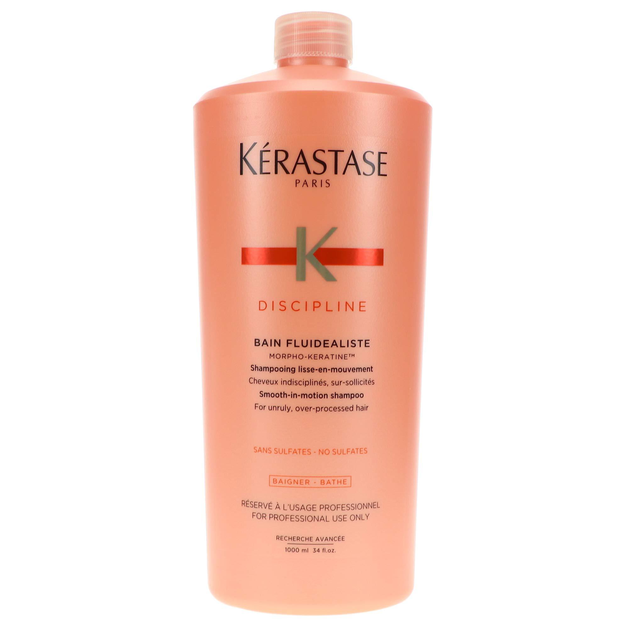Kerastase Discipline Bain Fluidealiste No Sulfate Smooth-in-Motion Shampoo, 34 Ounce