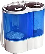 Giantex 16lbs Portable Mini Washing Machine Gravity Drain Compact Twin Tub