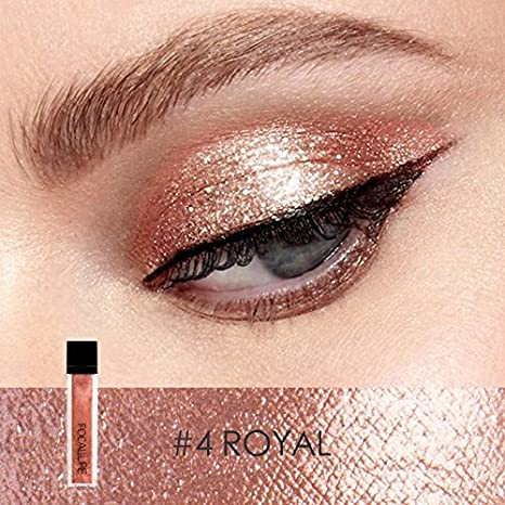 FOCALLURE Glitter Liquid Eyeliner Metallic Shimmer Glitter Eyeshadow Pigment Waterproof Makeup Eye Shadow-Solemn Beauty Glazed