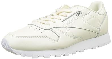 Reebok Leather X Face, Chaussures de Running Femme, Blanc