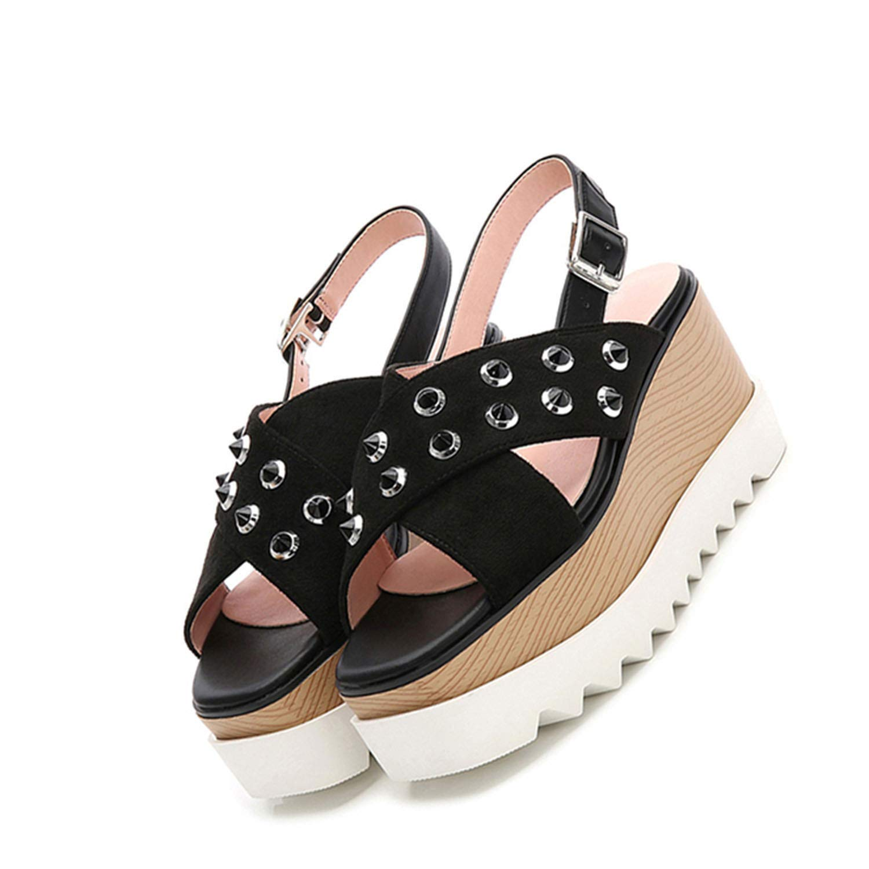 High Heels Platform Female Pumps Shoes Black Open Toe 2018 Slingback Suede Summer Peep,Green,36