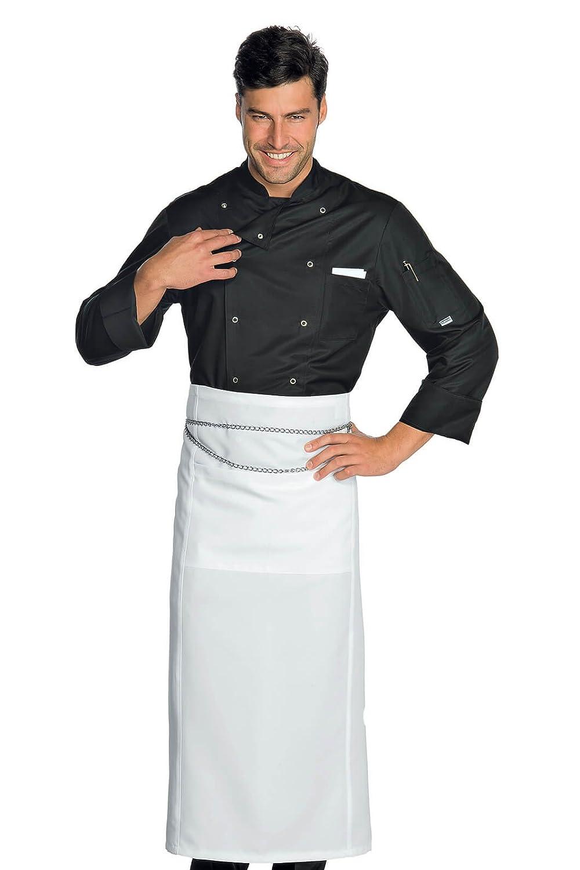 Bianco Manica Lunga 100/% Poliestere Superdry M Tessuto 130 gr//m/² Isacco Giacca Cuoco Classica Bianco Bottoni a pressione