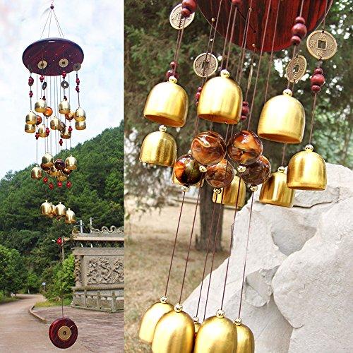 iHappy Brassiness Wind Chime 18 Bells Outdoor Living Garden Noisemaker Yard Windbell