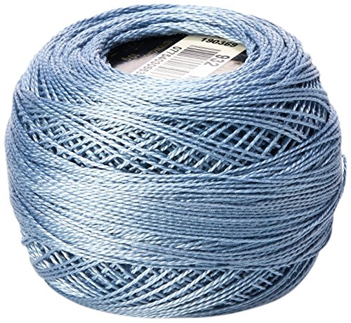 DMC 116 12-932 Pearl Cotton Thread Balls, Light Antique Blue, Size 12 (Antique Dmc Floss)