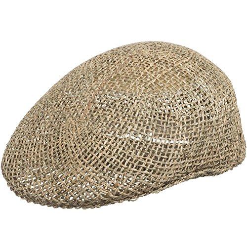 New Ascot Golf Vented Panama Straw Hat Dress Cap 7 1/2 Beige