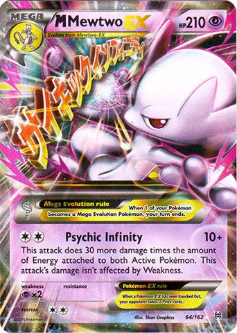 Pokemon - Mega-Mewtwo-EX (64/162) - XY BREAKthrough - Holo