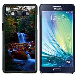 TECHCASE---Cubierta de la caja de protección para la piel dura ** Samsung Galaxy A5 ( A5000 ) 2014 Version ** --Cascada Naturaleza Forrest