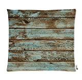 Rustic Old Barn Wood Square Decorative Zippered Polyester Pillow Case,Two Sides,24x24inch