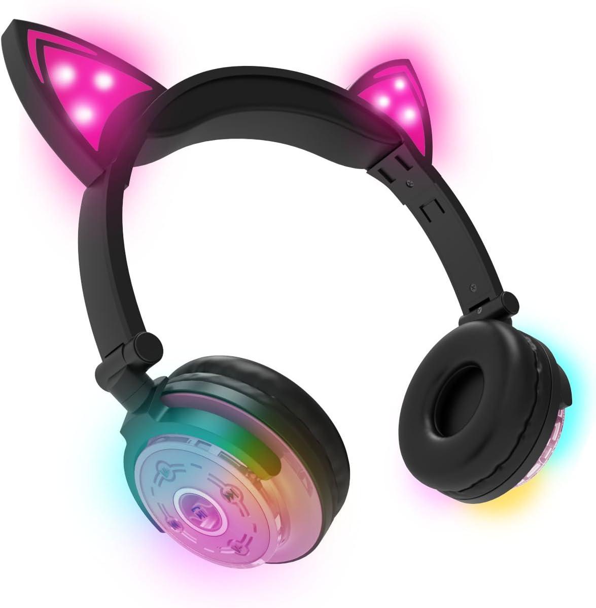 eKids HY-BTCAT-EU-PNK - Auriculares con Bluetooth, Color Rosa