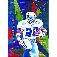 Emmitt Smith football card (Dallas Cowboys Hall of Fame) 1996 Playoff Illusions #90