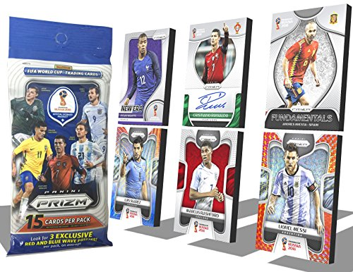 2018 PRIZM WORLD CUP RUSSIA TRADING CARDS, PANINI FOOTBALL TRADING CARDS (1 Pack 15 Cards)