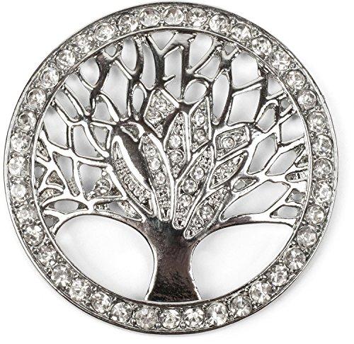 styleBREAKER Lebensbaum Magnet Schmuck Anhänger für Schals, Tücher oder Ponchos mit Strassteinen, Brosche, Damen 05050029