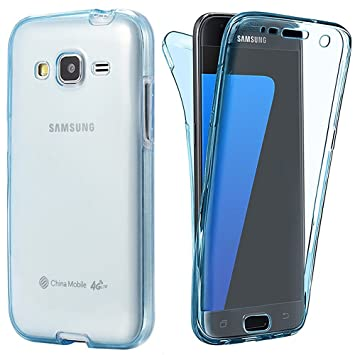 sale retailer 8e99a 371f5 Galaxy J5 2015 Case, Happy360 360 Degree Full Protective Shockproof TPU  Clear Rubber Transparent Design Gel Soft Case Cover for Samsung Galaxy J5  ...