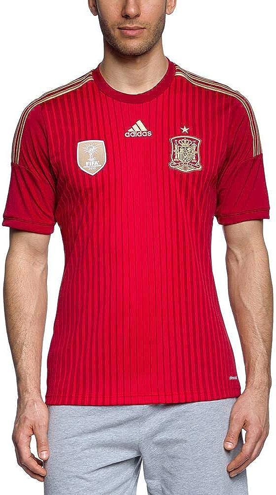 adidas Selección Española de Fútbol - Camiseta de fútbol, 2014, color rojo: Amazon.es: Ropa y accesorios