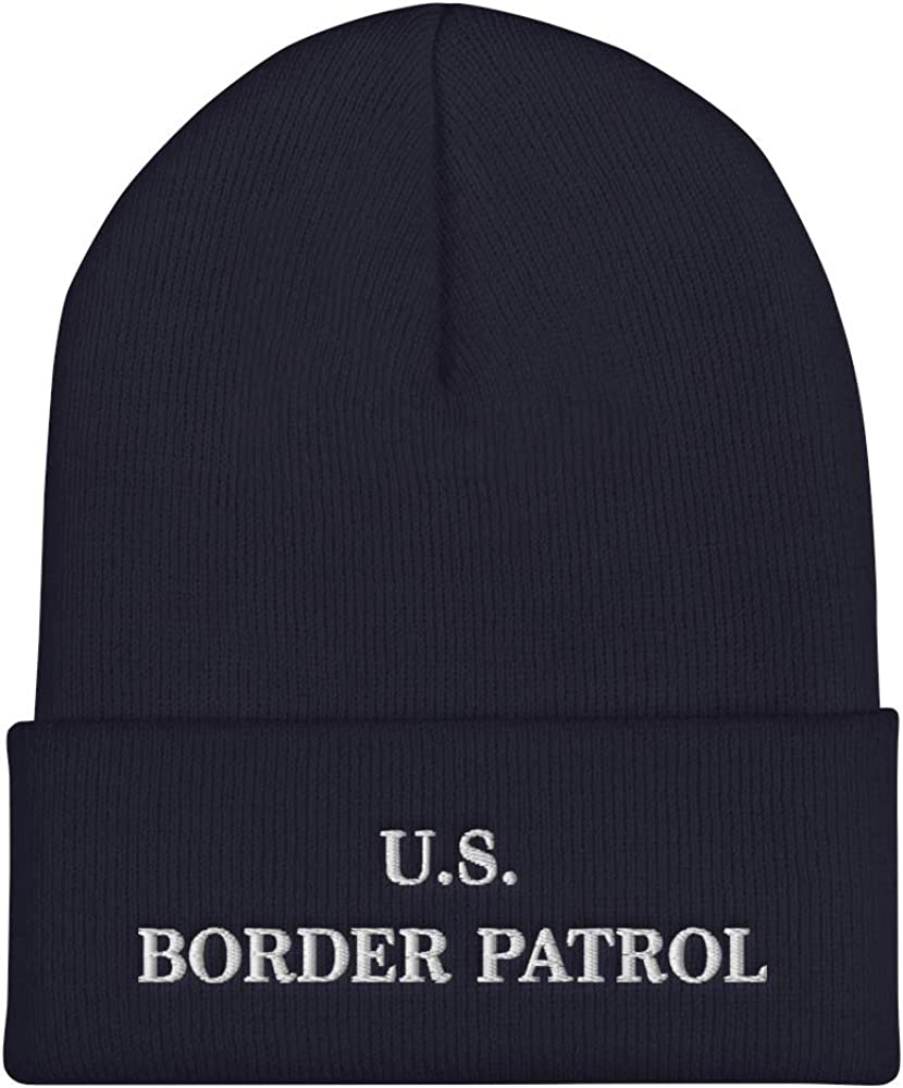Hogue WS LLC US Border Patrol Hat (Embroidered Cuffed Beanie) Dept Homeland Security