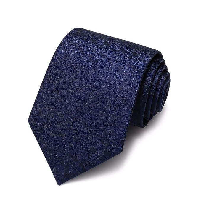 XXSZKAA-tie Azul Patrón Corbata Hombre/Juego Camisa Negocio 8Cm ...