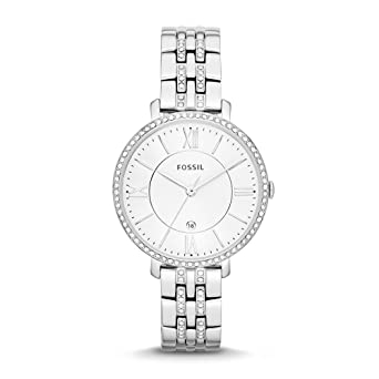 4530a6a73d76 Amazon.com  Fossil Women s Jacqueline Quartz Stainless Steel Dress ...