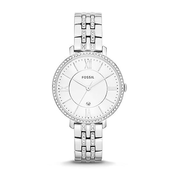 Fossil ES3545 - Reloj para Mujeres, Correa de Acero Inoxidable Color Plateado: Fossil: Amazon.es: Relojes