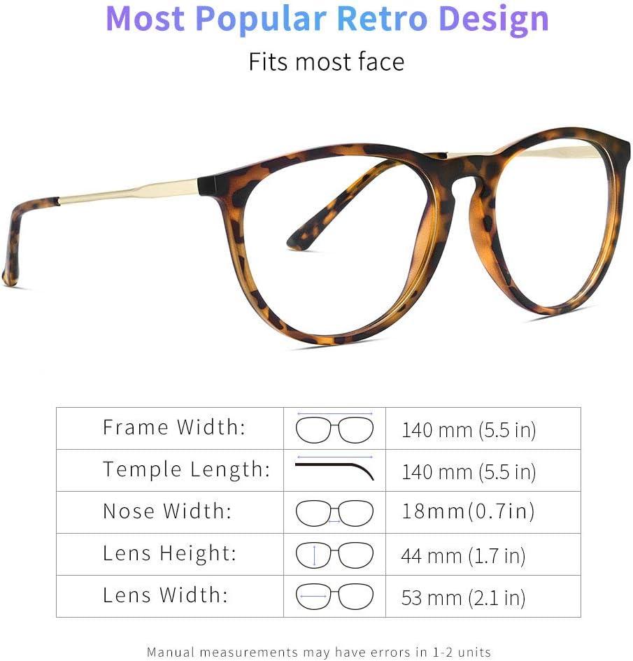 Yaroce blue light glasses fit guide main