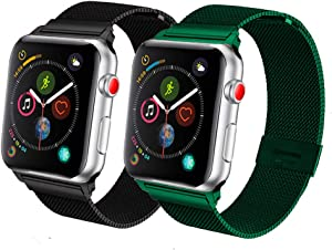 SPINYE Band Compatible for iWatch 38mm 42mm 40mm 44mm, Stainless Steel Metal Mesh Replacement Strap for Apple Watch Series 5/4 / 3/2 Women Men, if Applicable (42mm/44mm)