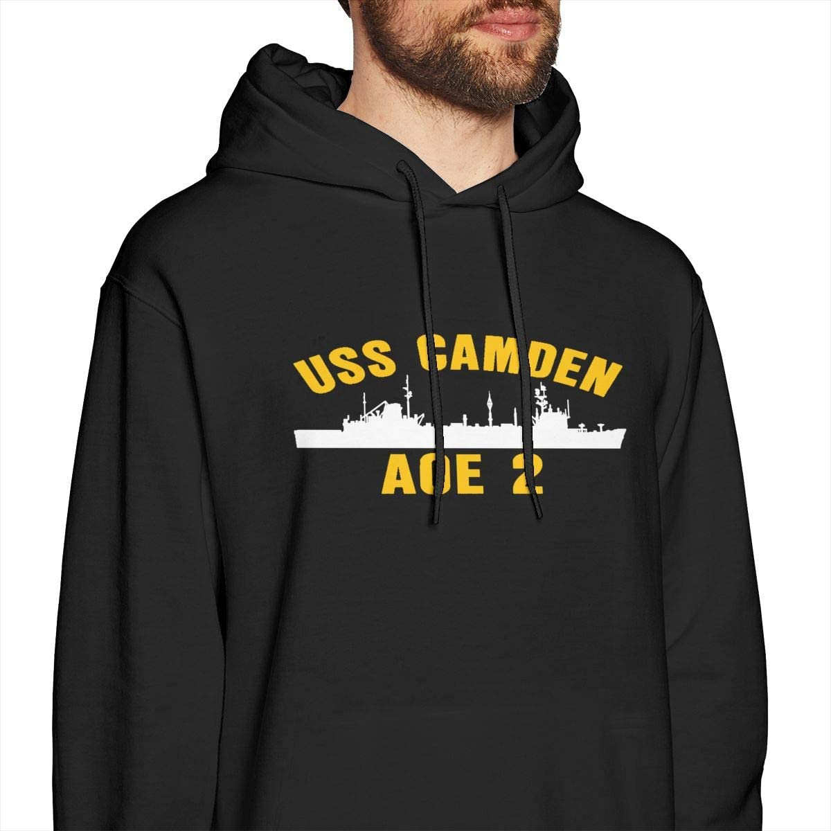 HONGHUOmao USS Camden AOE 2 Mens Fashion Pullover Casual Hoodie Hooded Sweatshirt with Pocket